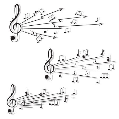 songwriter: Music. Treble clef and notes for your design on a white background. Illustration