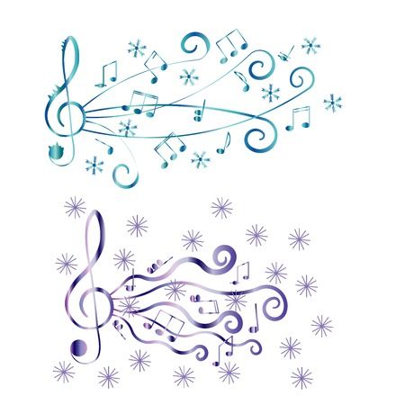 Treble clef for your design. A vector illustration Vector