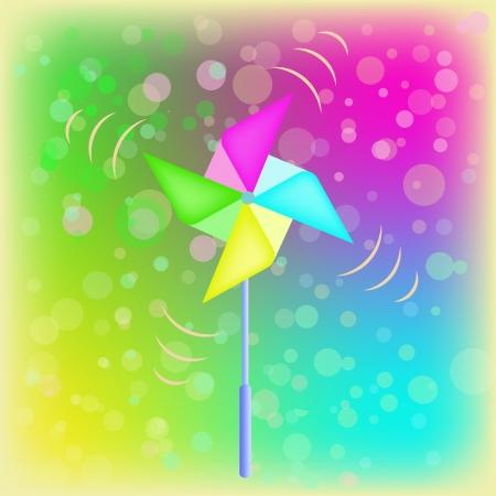wind wheel: Vector weather vane in a shape of flower