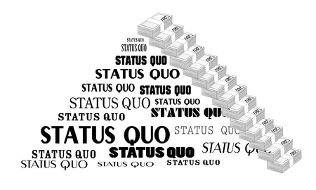 disrupt: Status Quo words. A vector illustration