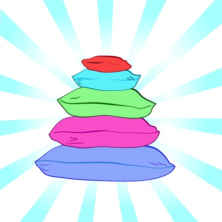 bed sheet: Isolated colorful pillows-vector illustration Illustration
