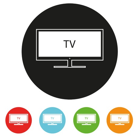 Tv sets silhouette icons for your design  A vector illustration Stock Photo