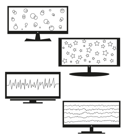 Tv sets silhouette for your design. A vector illustration Vector