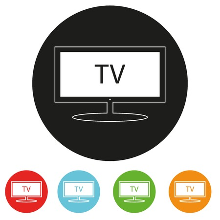 Tv sets silhouette icons for your design. A vector illustration Vector