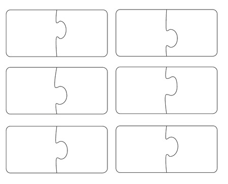 Blank template puzzle. A vector illustration