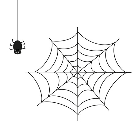 scary story: Spider. Illustration on white background. A vector Illustration