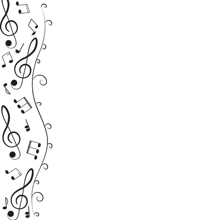 Treble clef for your design. Illustration