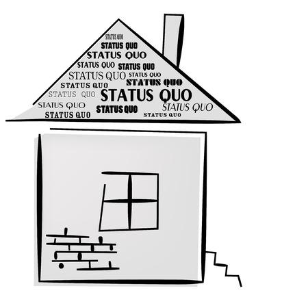 status: Status Quo words. A vector illustration
