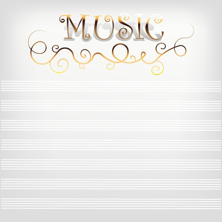 Music background with notes line. A vector illustration
