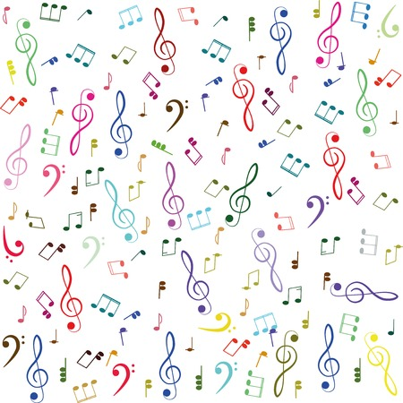 songwriter: Music. Treble clef and notes for your design on a white background for you design.