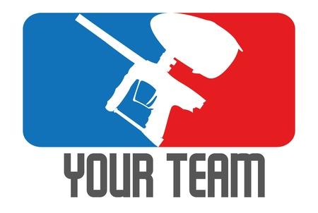 paintball teamlogo Vettoriali