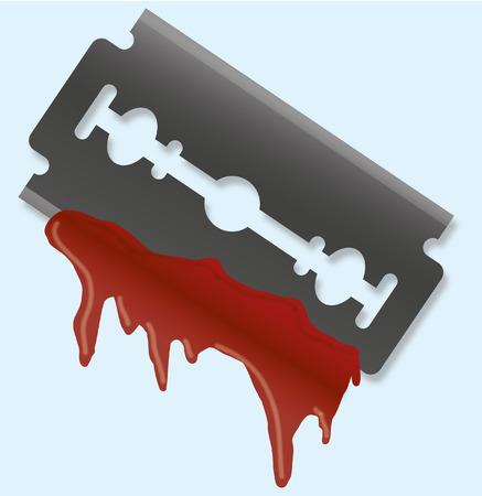 bloody razor blade Фото со стока - 31583796