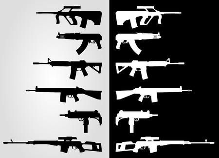 assault rifles silhouette