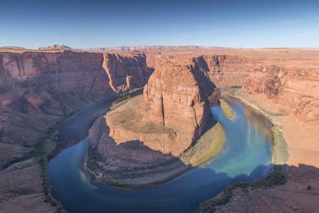 Horseshoe Bend and Colorado River in Arizona, USA Stok Fotoğraf