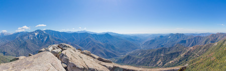 Panorama View From Moro Rock, Sequoia National Park in California