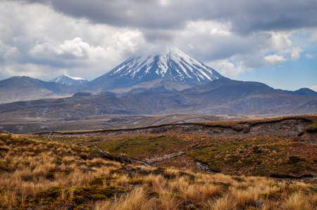 tongariro: Mt Tongariro in eruption Stock Photo