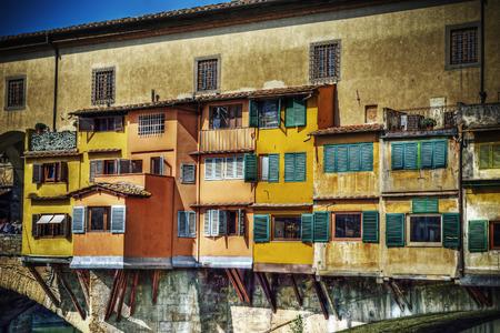 ponte vecchio: Ponte Vecchio facade in Florence, Italy Stock Photo