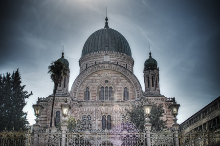 hdr: Florence synagogue in hdr tone mapping effect