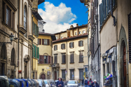 glimpse: glimpse of a street in Florence, Italy