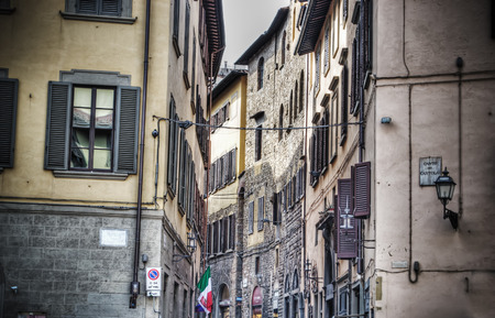 backstreet: small backstreet in hdr in Florence Italy