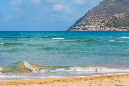 ferro: waves in Porto Ferro beach in Sardinia