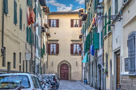 backstreet: picturesque backstreet in Florence in high dynamic range effect