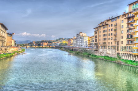 arno: view of Arno river in Florence in hdr