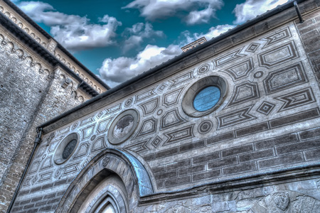 high dynamic range: detail of Santa Maria Novella in high dynamic range effect Stock Photo