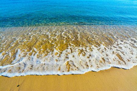foreshore: colorful foreshore in lazzaretto beach, Italy Stock Photo