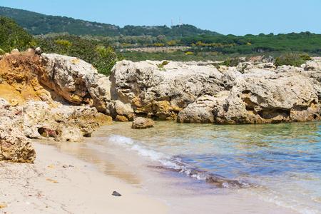 cove: rocks and sea in a small cove in Sardinia