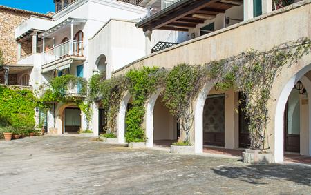 arcade: arcade in Porto Rotondo square, Costa Smeralda