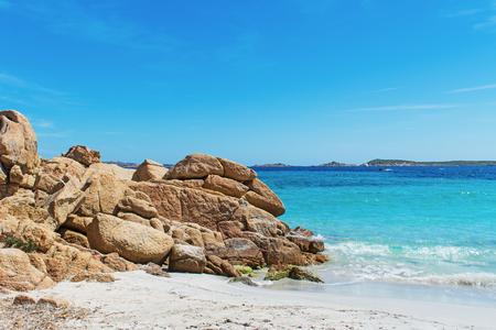 rocks in Capriccioli beach, Sardinia