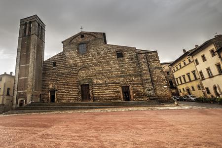 Santa Maria Assunta church in Montepulciano main square, Italy