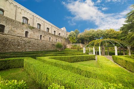 Fortezza Medicea garden in Montepulciano, Tuscany