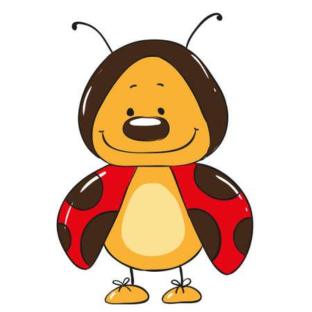 catarina caricatura: personaje de dibujos animados lindo de la mariquita