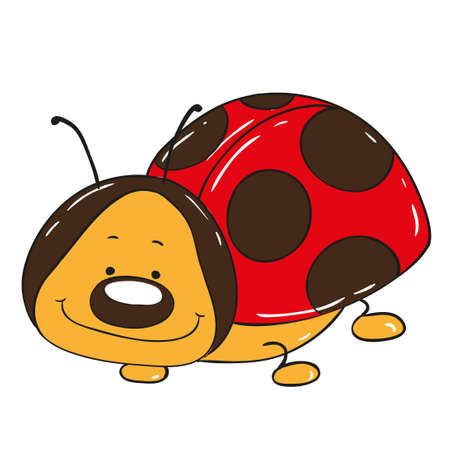 Cute ladybug cartoon character