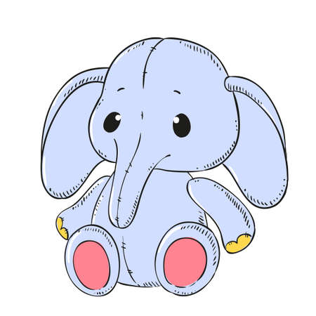 stuffed: Cute soft toy Elephant