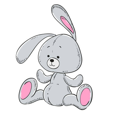 Soft toy plush rabbit