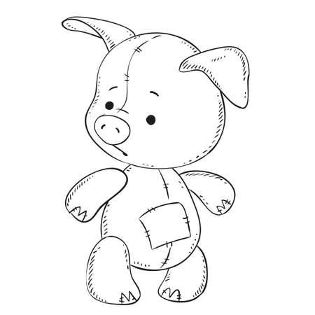 Lindo Felpa Bebé Cerdo Dibujos Animados Traje De Santa Claus ...