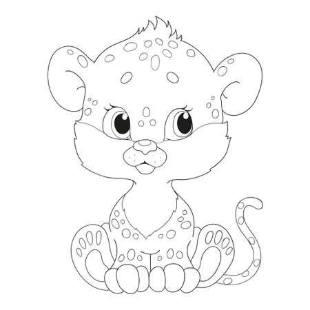 Leopardo Carácter. Ilustración De Dibujos Animados Ilustraciones ...