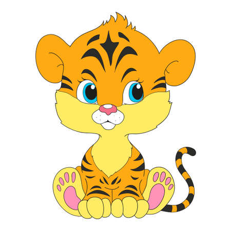 Tiger cub: Un peque�o cachorro de tigre lindo.