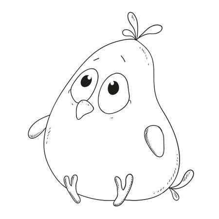 De Dibujos Animados Lindo Patito. Carácter Del Pato Para El Vector ...