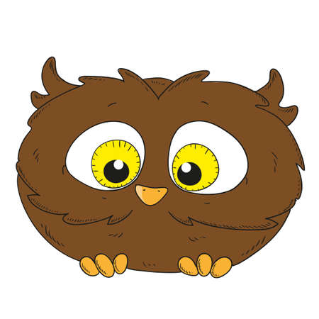 owlet: Cartoon character owlet. Little Owl vector illustration