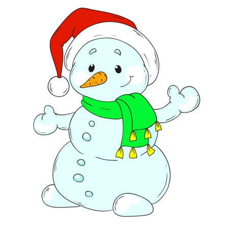 Merry Christmas Snowman. Ilustrace