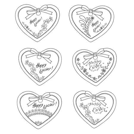 Collection of heart shape holiday cards