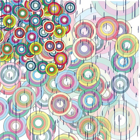 Abstract grunge background with circles Stock Photo - 7032844