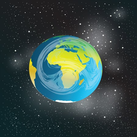 Abstract representation of Earth in Space Stock Photo - 7032501