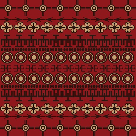 Background with ethnic African symbols and ornaments photo