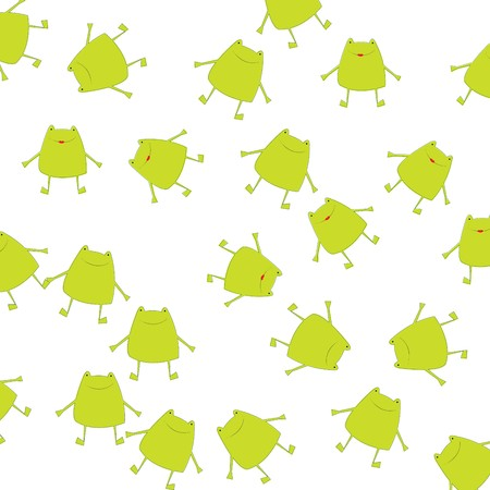 Background with green frogs photo