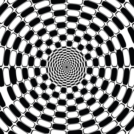 Black and white optical effect photo